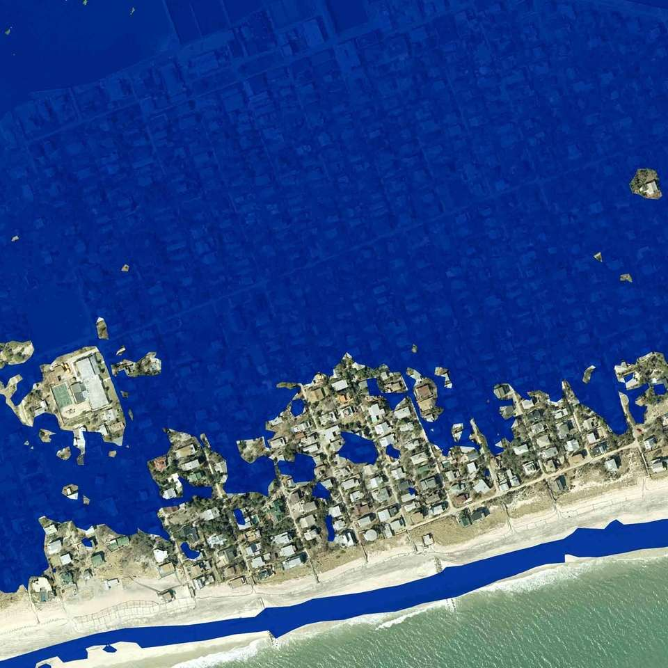 A NYSDEC GIS satellite photo-illustration of Ocean Beach