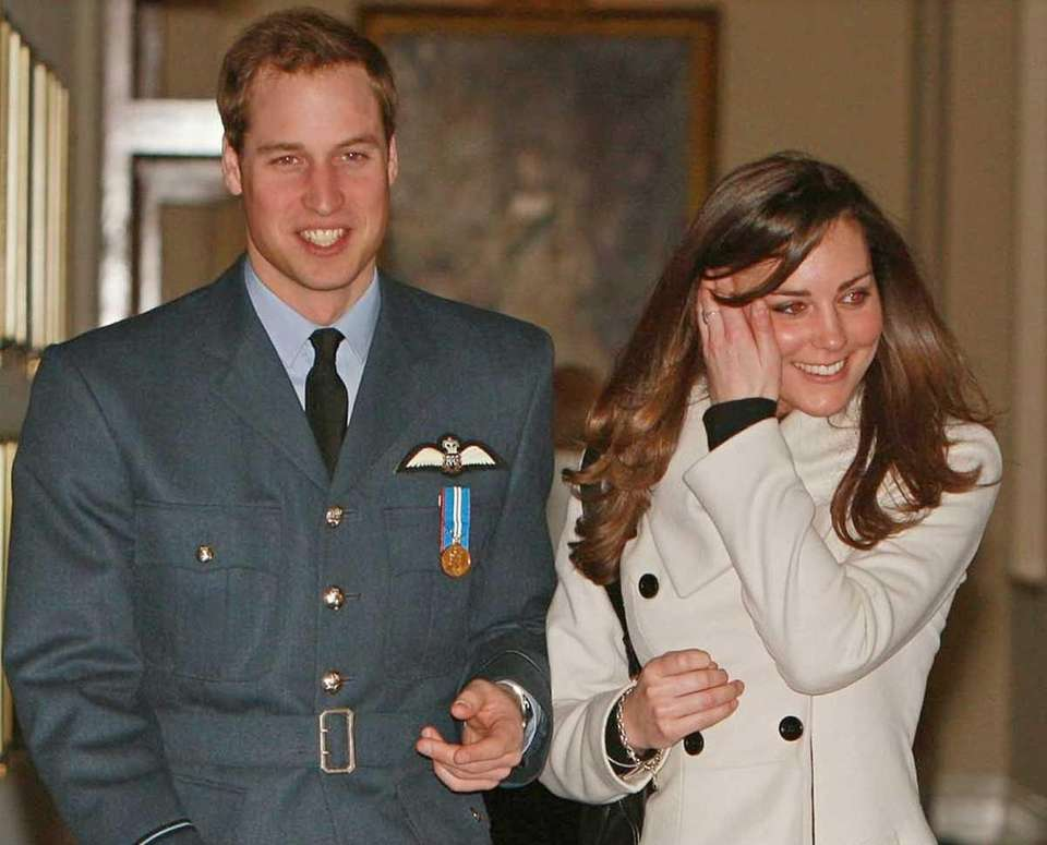 Prince William and his girlfriend Kate Middleton after