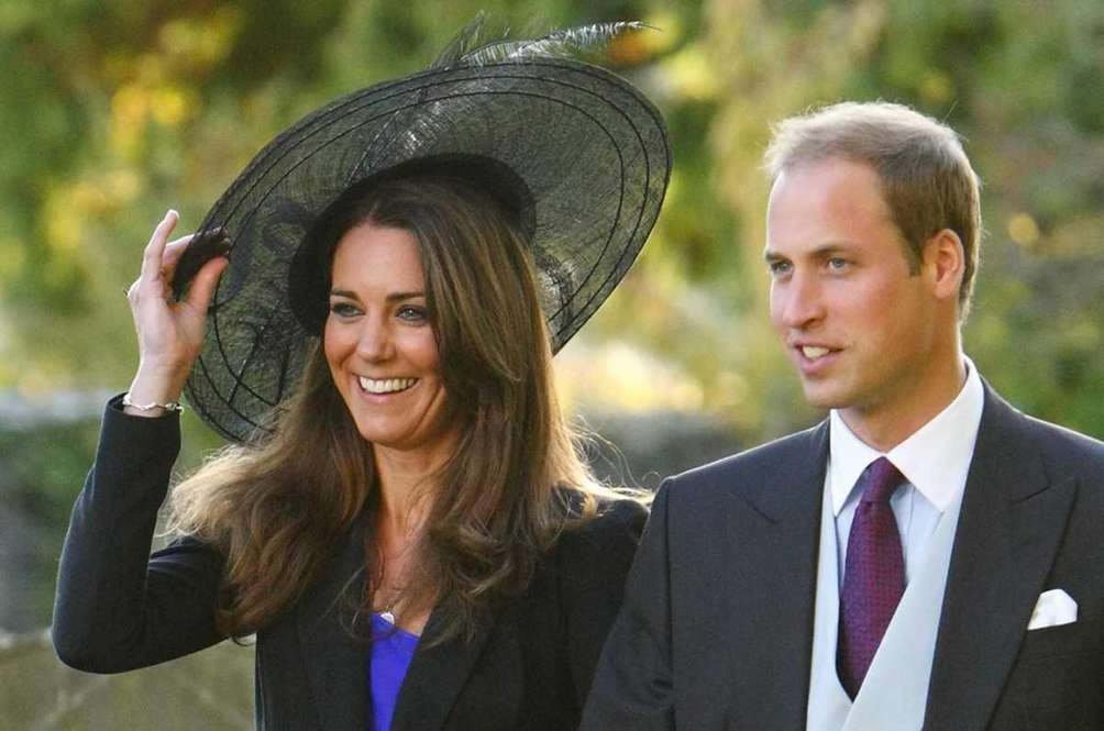 Britain's Prince William and Kate Middleton leave the