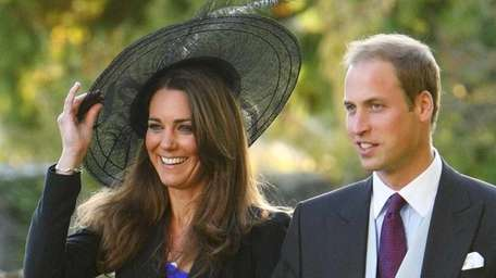 Prince William and Kate Middleton leave the wedding
