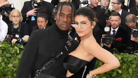 Travis Scott and Kylie Jenner attend The Metropolitan