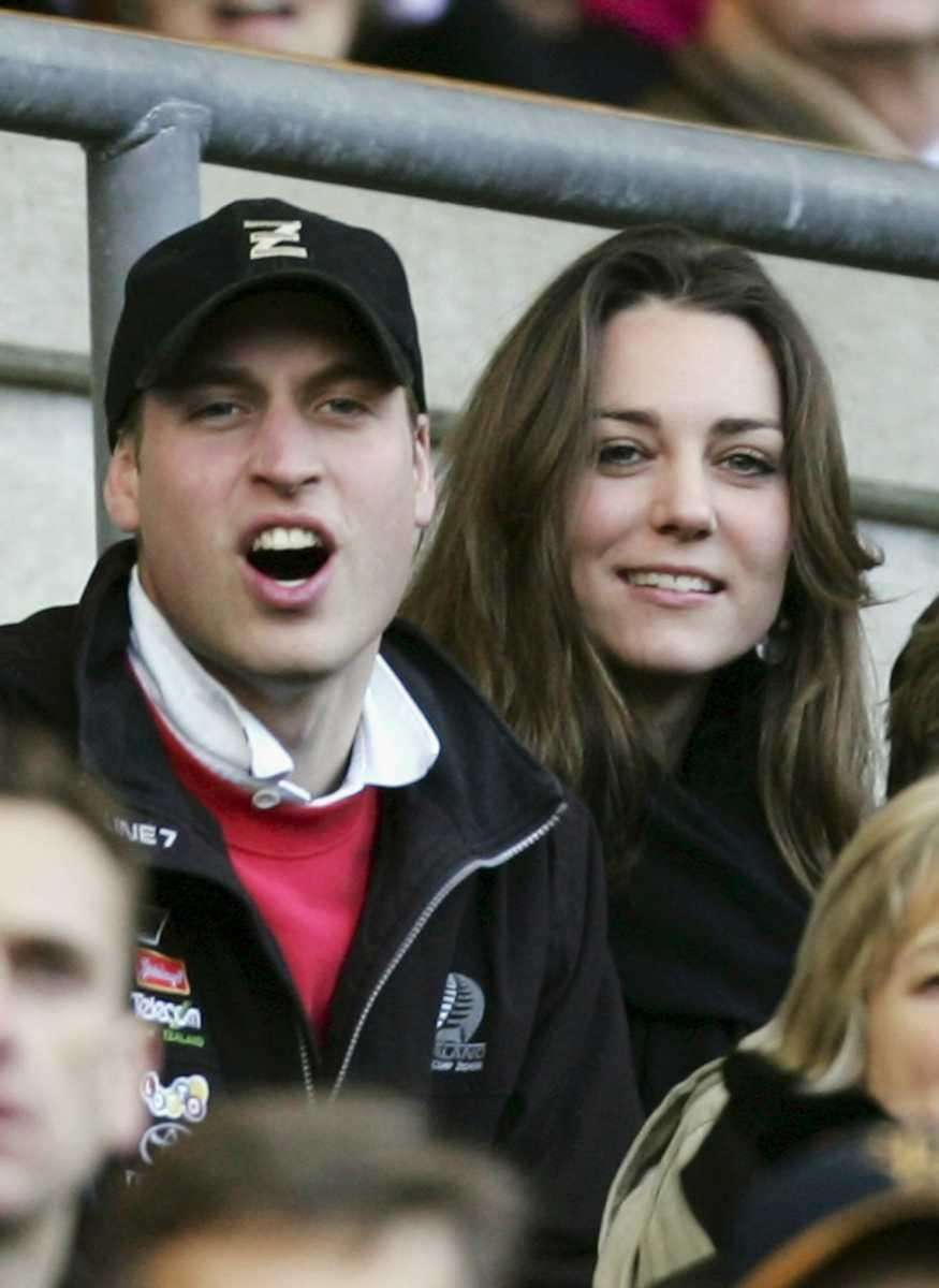 Prince William and Kate Middleton watch the action