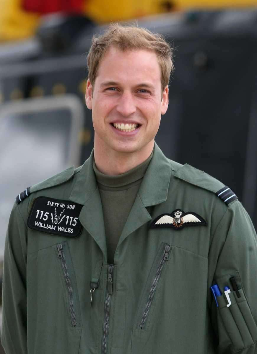 Prince William poses in front of a Griffin
