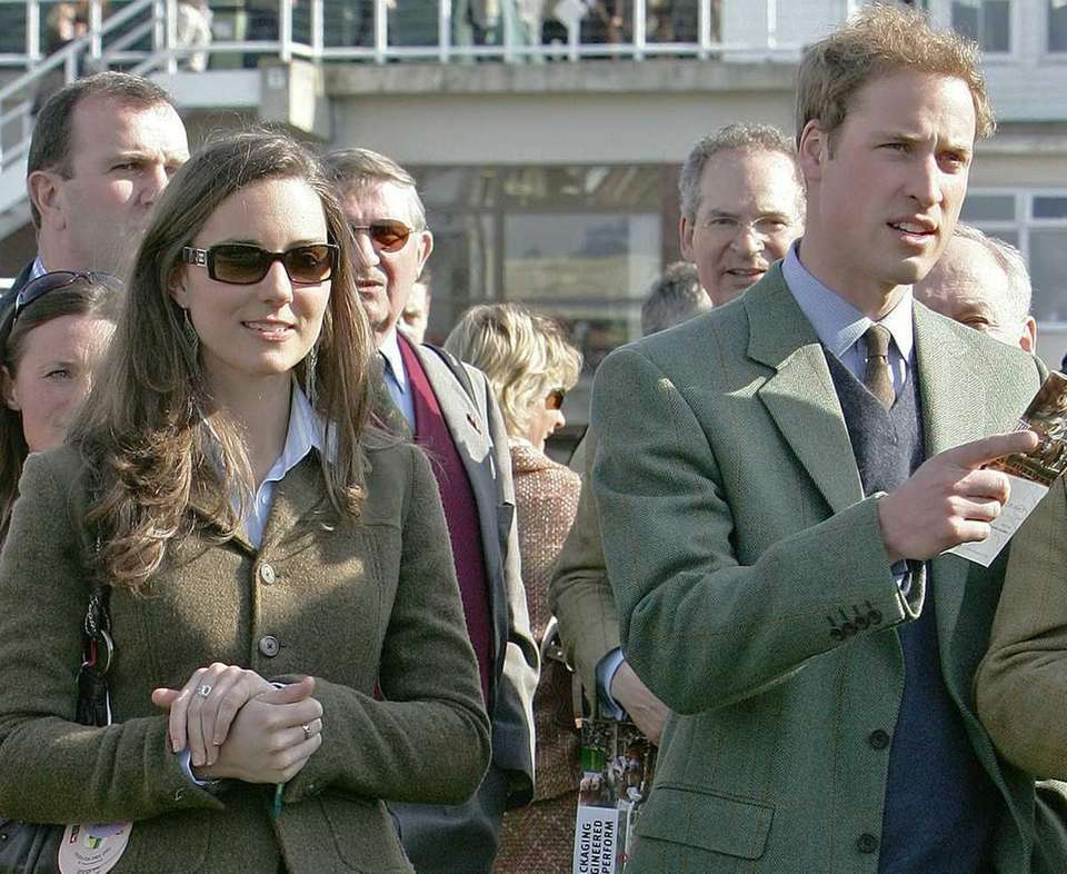 Kate Middleton and Prince William on the first