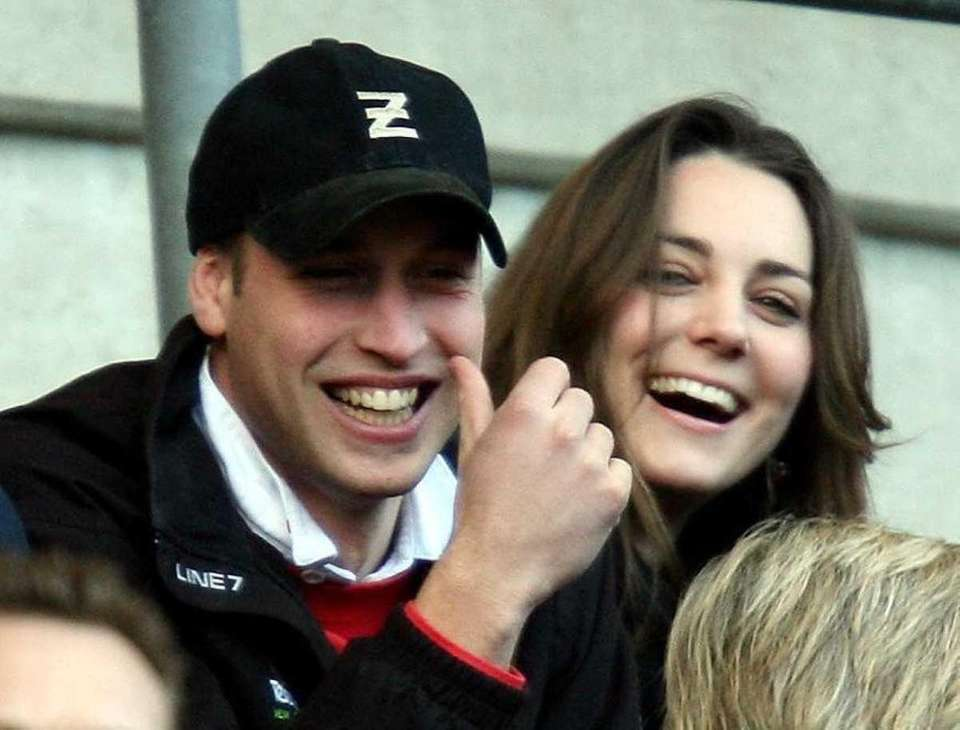 Prince William and Kate Middleton watch the England