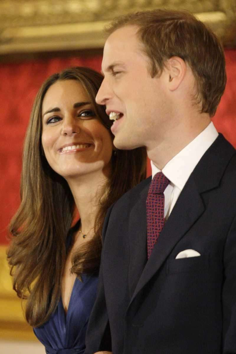 Prince William and Kate Middleton pose for the