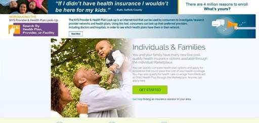Image of the NY State of Health marketplace.