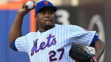 Mets relief pitcher Jeurys Familia against the Washington