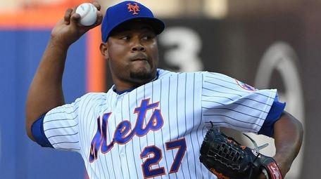 Mets relief pitcher Jeurys Familia against the Washington