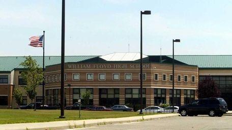 The main entrance to William Floyd High School