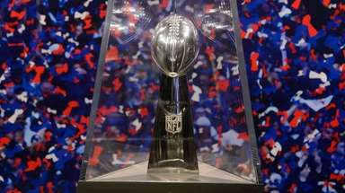 Vince Lombardi Trophy at the NFL Experience Times