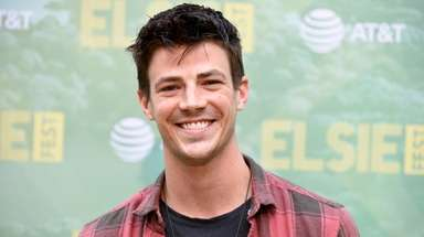 Grant Gustin attends Elsie Fest, Broadway's Outdoor Music