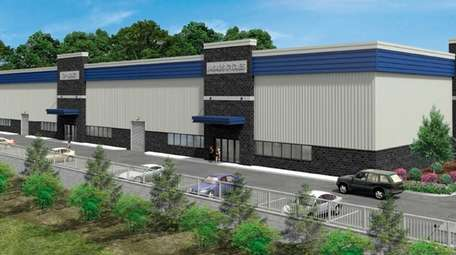 Renderings of a warehouse to be built by