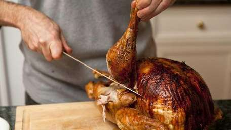 Carving a turkey is a Thanksgiving tradition