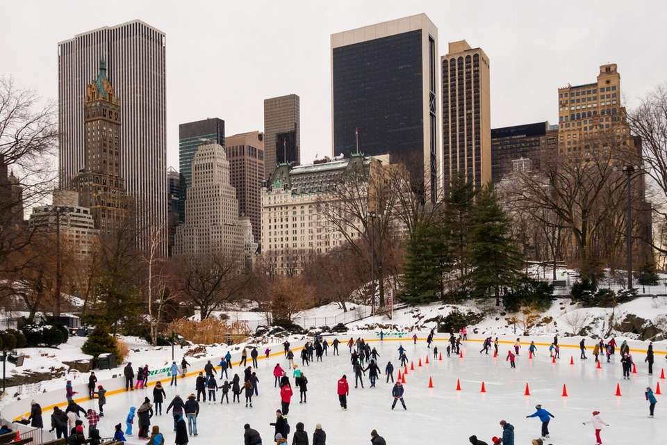 Skate with the Manhattan skyline behind you and