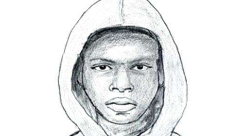 A police sketch of one of two suspects