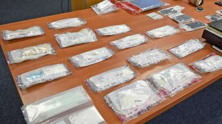 Cocaine and other drugs seized during a drug
