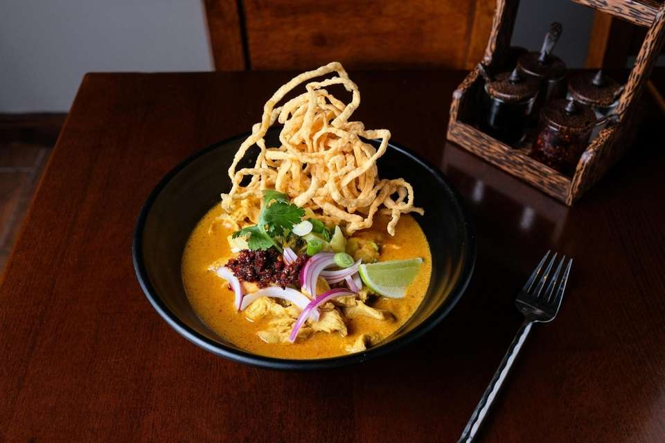 Khao Soi soup is a hearty bowl of
