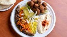 Halby kebab, made with kofte beef and served