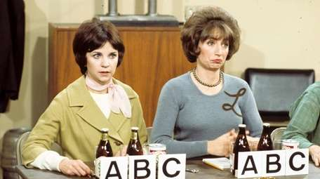 Cindy Williams, left, and Penny Marshall appear in