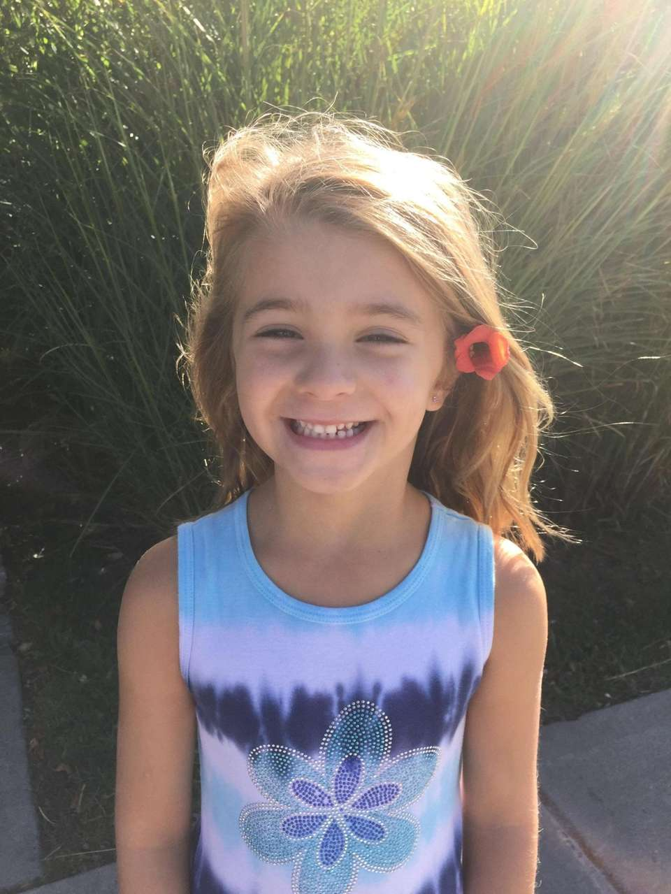 Paige Keely, 6, of Nissequogue Village and Kismet