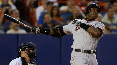 Barry Bonds, the all-time home run king with