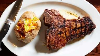The LongHorn porterhouse steak weighs in at 22