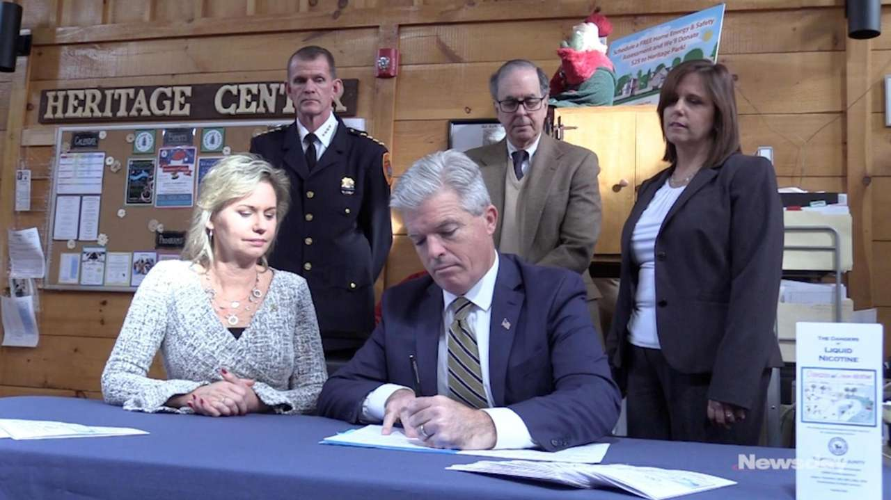 On Thursday, Suffolk County Executive Steve Bellone signed