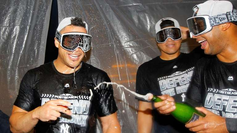 From left, Giancarlo Stanton, Dellin Betances and Aaron