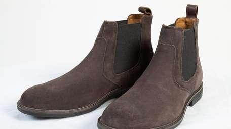 The Hollis Chelsea Boot (gray suede boot) is