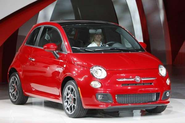 The 2012 model of the Fiat 500, or