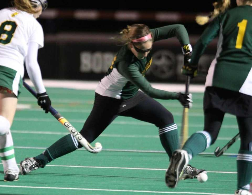 Ward Melville's drives the ball up field during