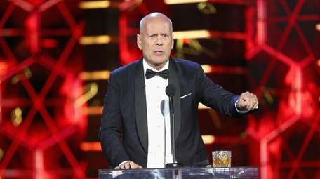Bruce Willis speaks onstage during the Comedy Central