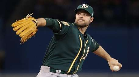 Danny Coulombe of the Oakland Athletics in the