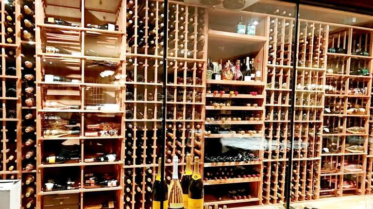 The wine cellar at The Carltun in East