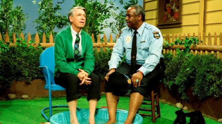 "Fred Rogers, right, in ""Won't You Be My"