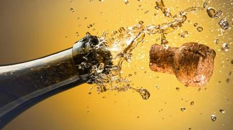 Celebrate by uncorking a bottle of sparkling wine.