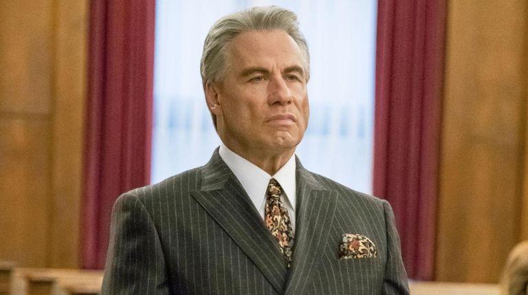 "John Travolta as John Gotti in ""Gotti."""