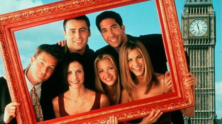 """""""Friends"""" in London. Clockwise from top left: Matt"""