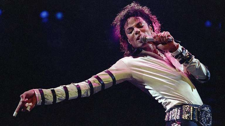 Michael Jackson performs on Feb. 24, 1988, in