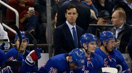 Head coach David Quinn of the Rangers looks