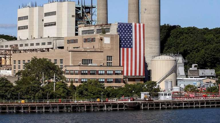 PSEG's Port Jefferson power plant is shown on