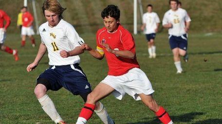 Friends Academy senior Matt Slotnick, right, and Madrid-Waddington's