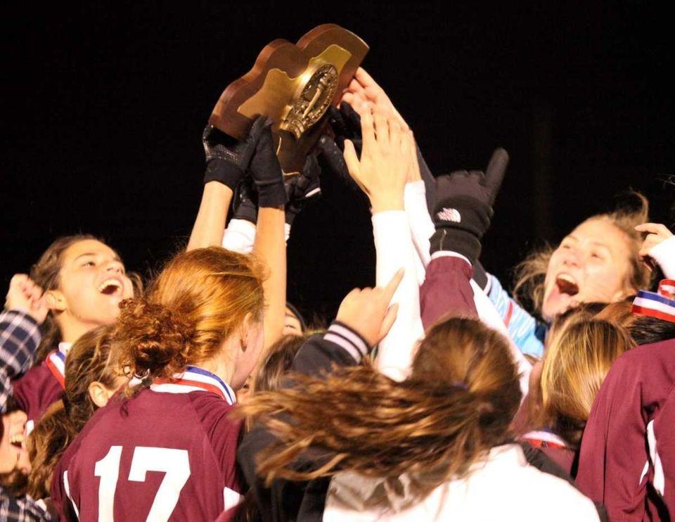 Garden City's trophy celebration after winning their game