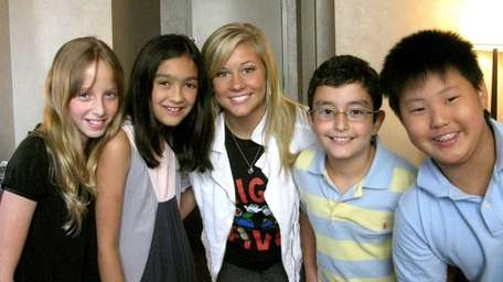 Kidsday reporters, from left, Ali Acker, Elizabeth Prendergast,