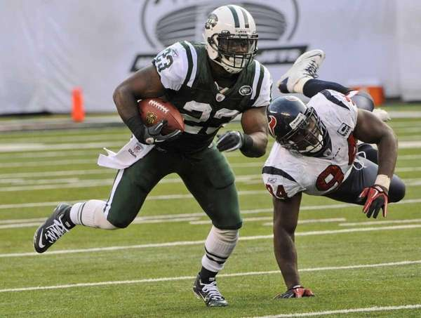 New York Jets running back Shonn Greene (23)