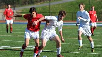 Friends Academy senior Matt Slotnick (6) plays for
