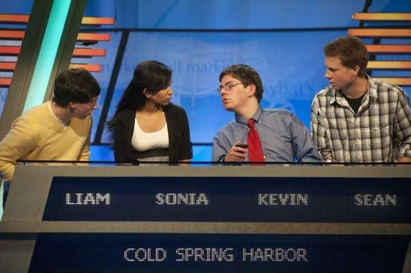 From left, Cold Spring Harbor High School students