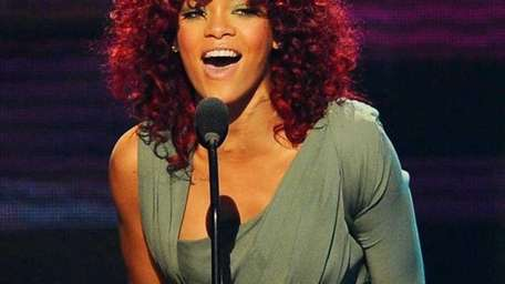 Singer Rihanna accepts the Soul/Rhythm & Blues Music
