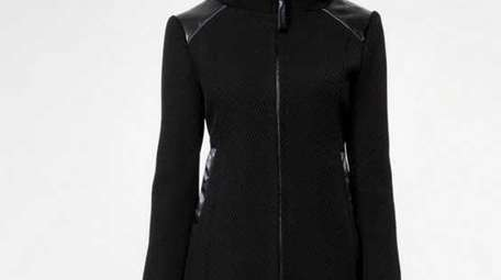 This hooded coat is featured at the Mackage